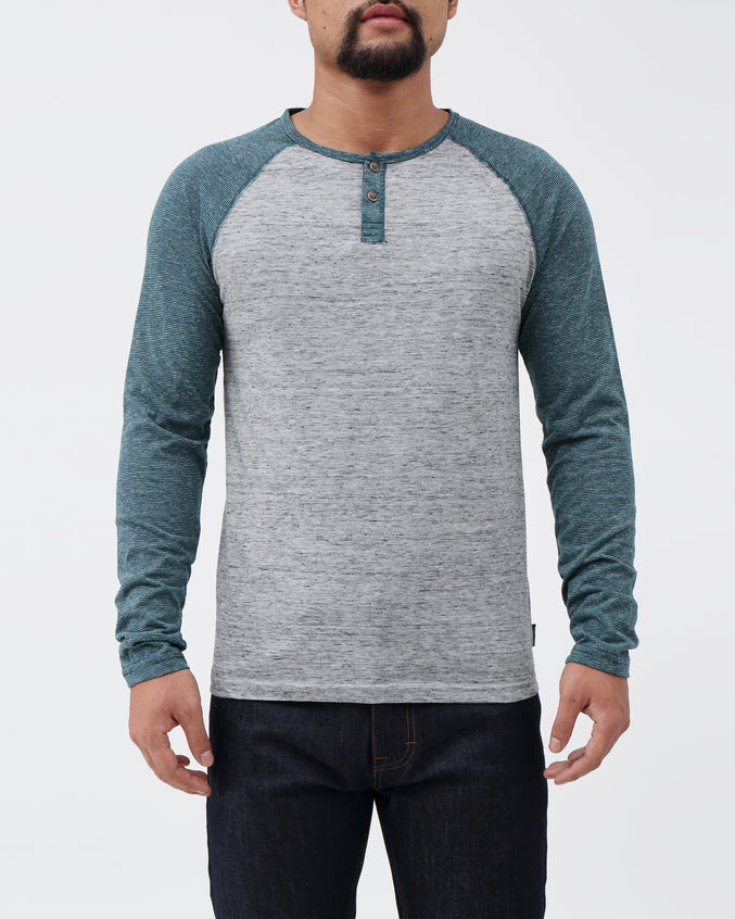 Driver LS Henley - Color: Deep Sea | Green
