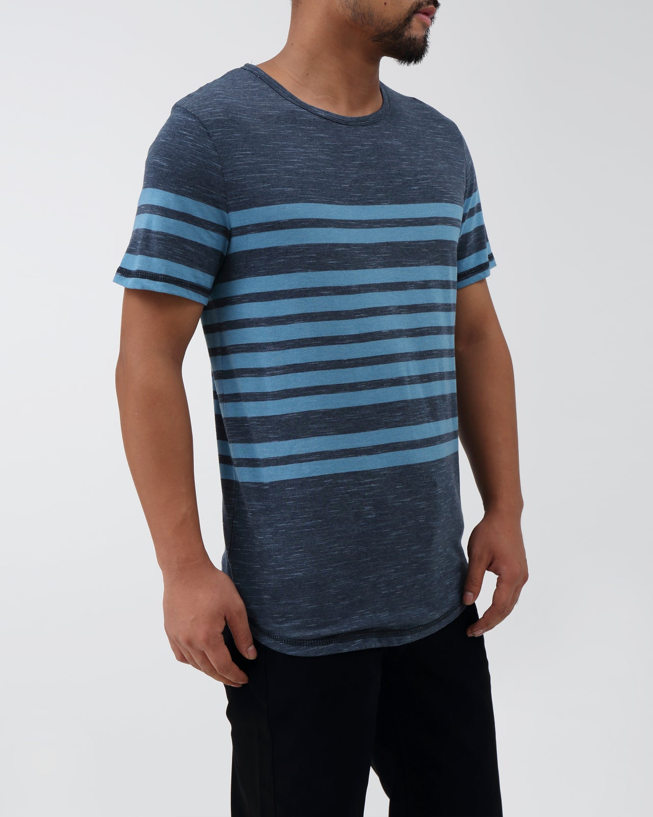 Hudson SS Tee - Color: Dolphin | Blue