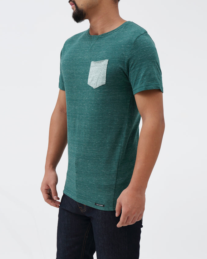 Keiko Pocket Tee - Color: Kale | Green