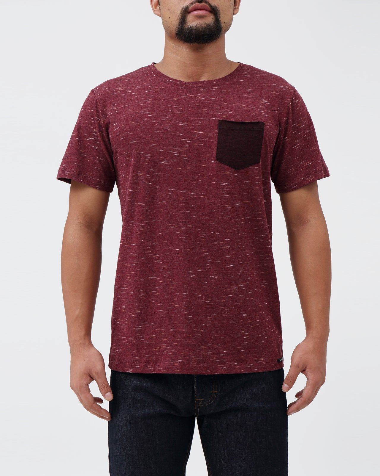 Milan SS Tee - Color: Burgundy | Red