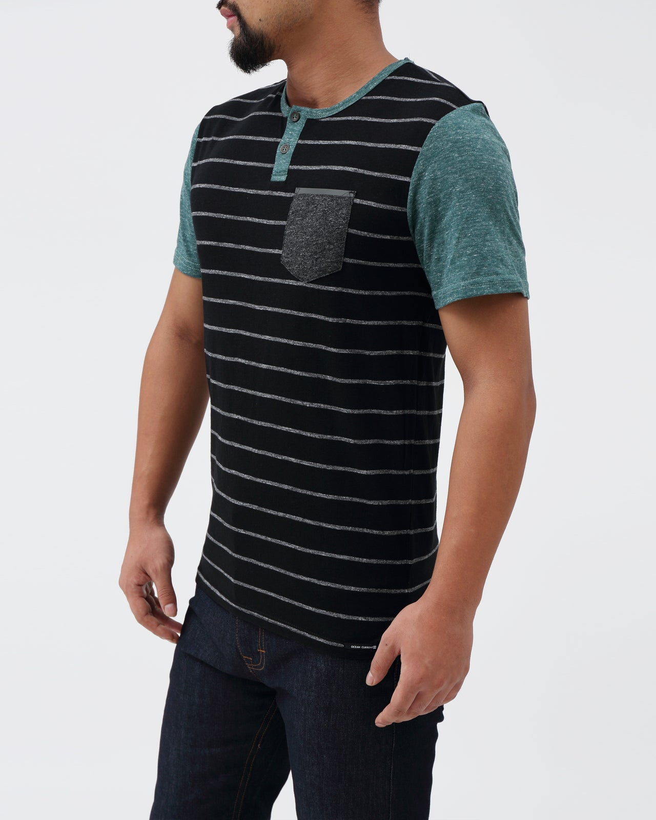 Bermuda Henley Tee - Color: Kale | Green
