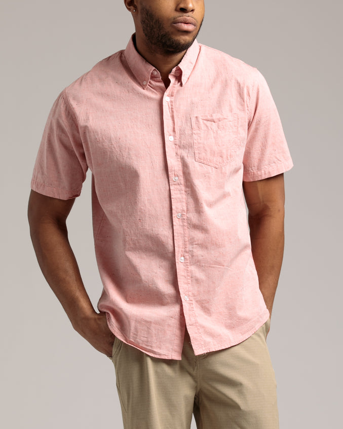 Orbic SS Shirt - Color: Heather Coral | Pink