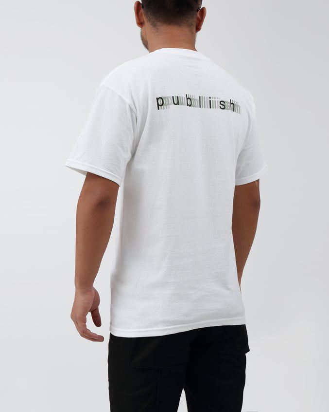 Love Is Blurred Tee - Color: White | White