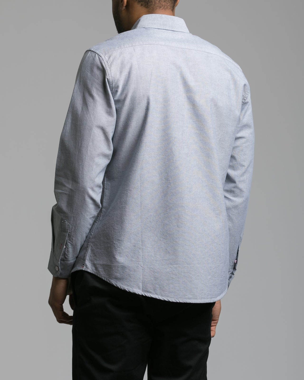 Long Sleeve Button Down Shirt - Color: Grey | Gray