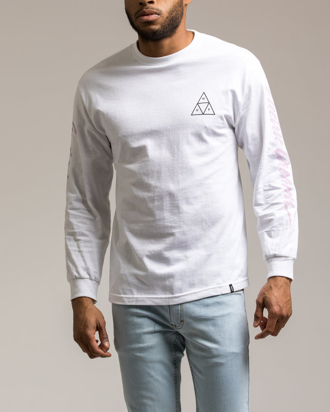 Night Call Triple Triangle Tee - Color: White | White