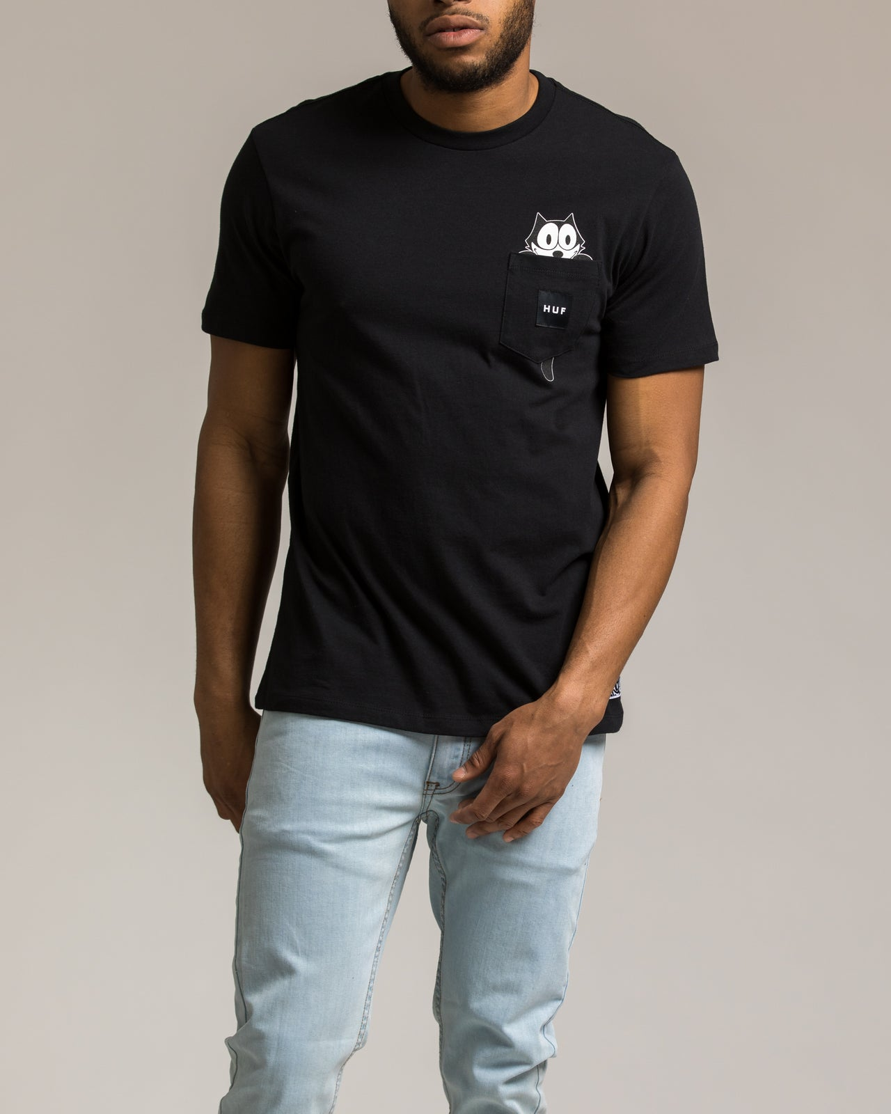 Felix Watching Pocket Tee - Color: Black | Black