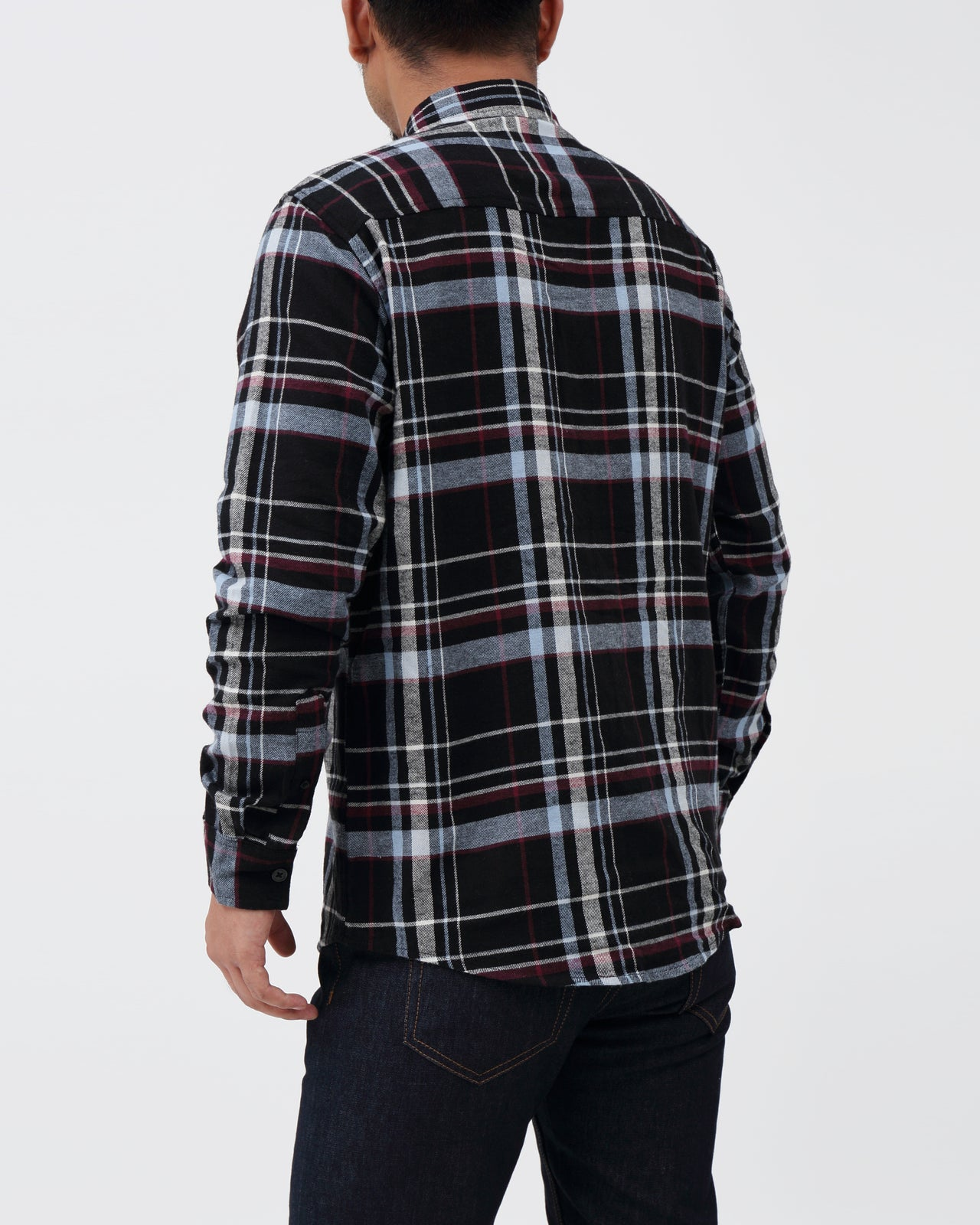Flannel Plaid Shirt - Color: Black | Black