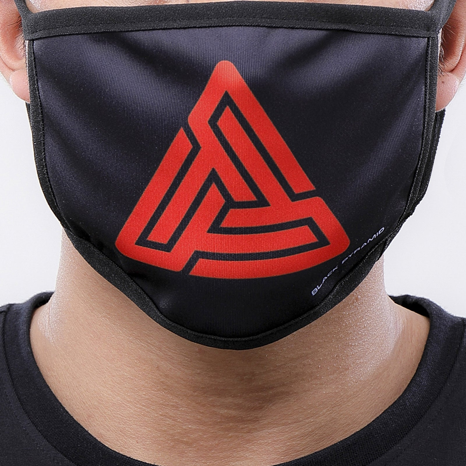 MAZE LOGO FACE MASK - Color: Black | Black