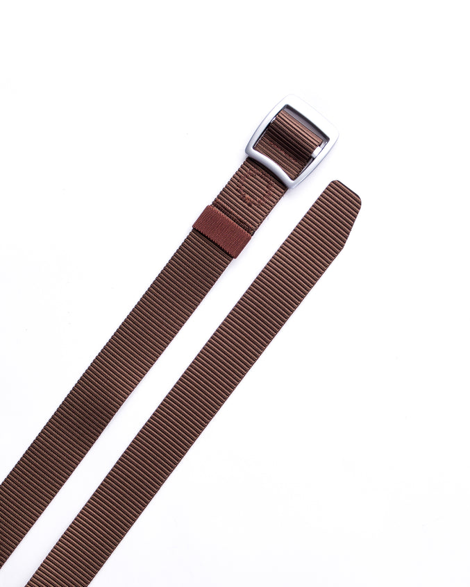 Trek Buckle Belt - Color: Brown/Silver | Brown