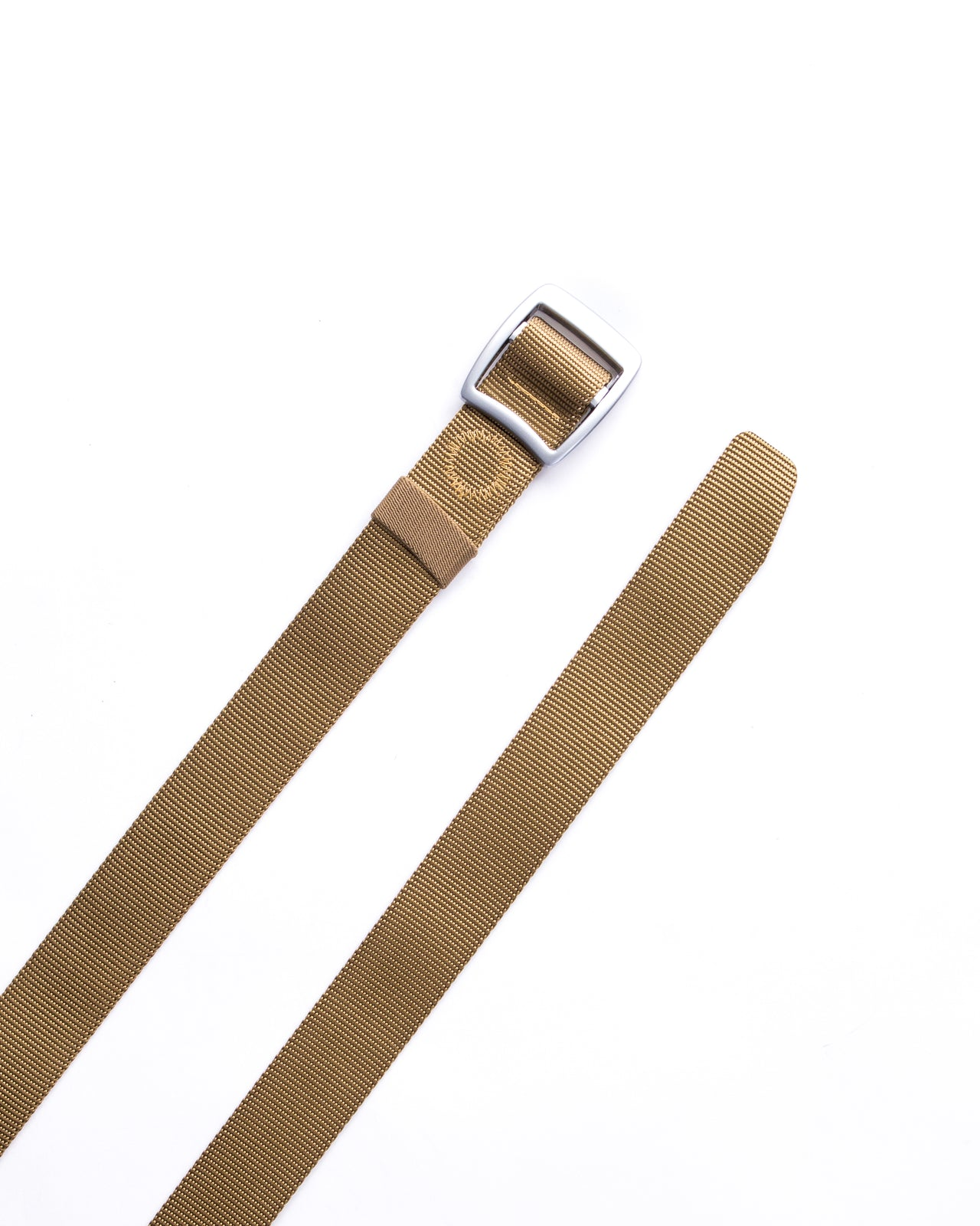 Trek Buckle Belt - Color: Tan/Silver | Beige