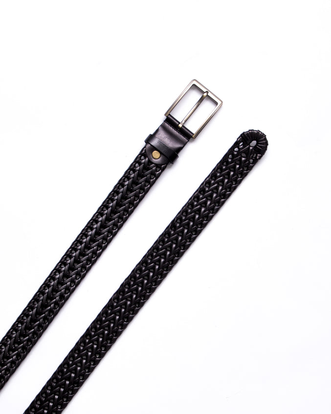 Split Leather Belt - Color: Black | Black