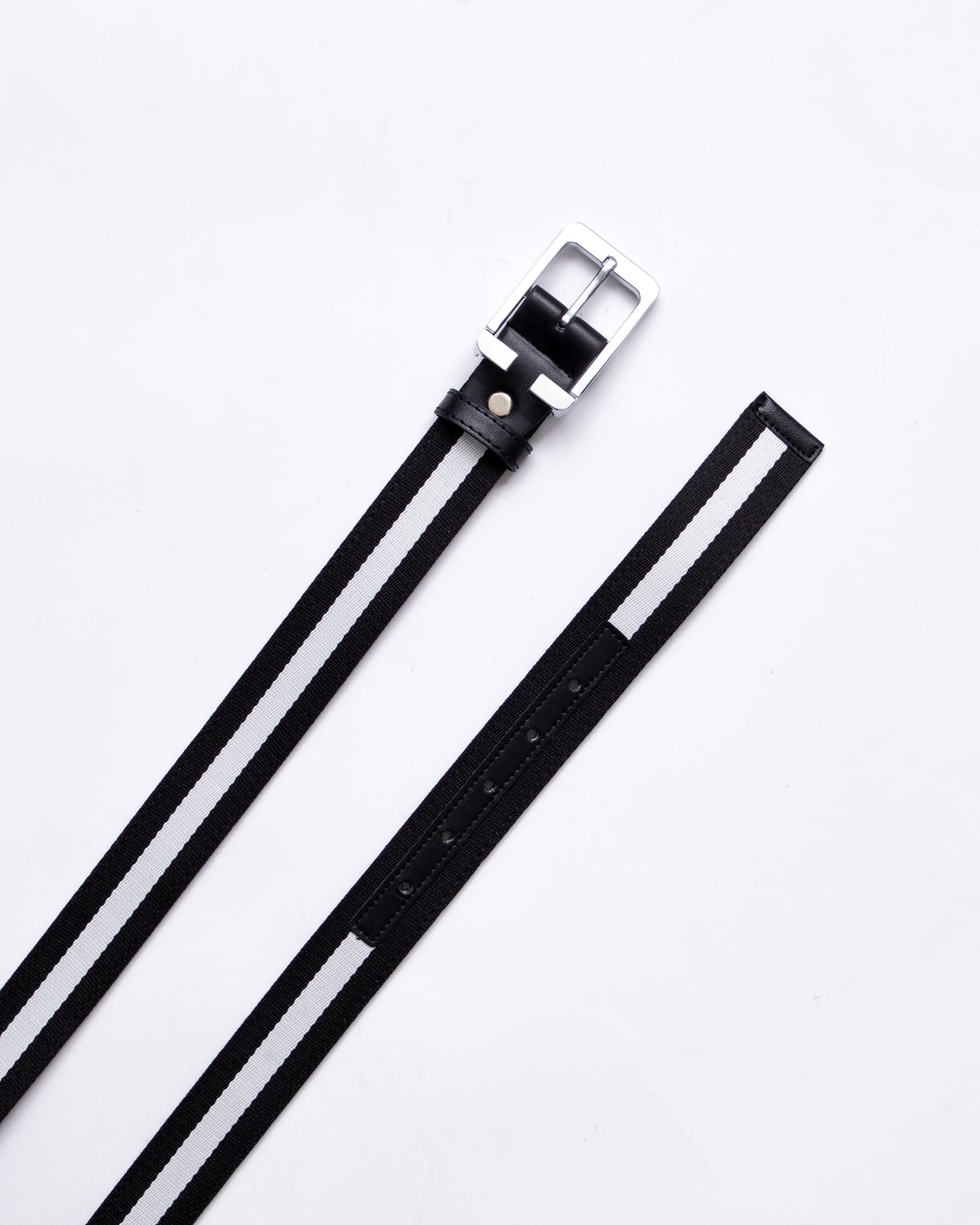 Stripe Belt - Color: Black/White | Black