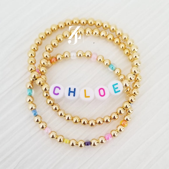 Kids Personalized Color Name Stack