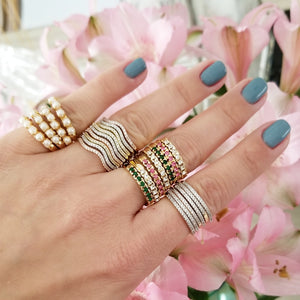 White Stackable Ring