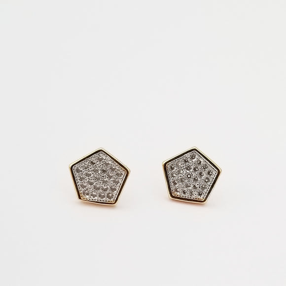 Geometric Pave Earrings