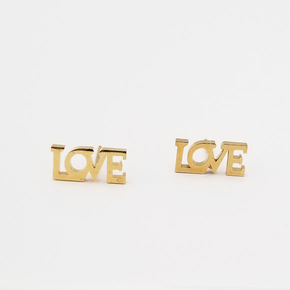Gold Love Earrings