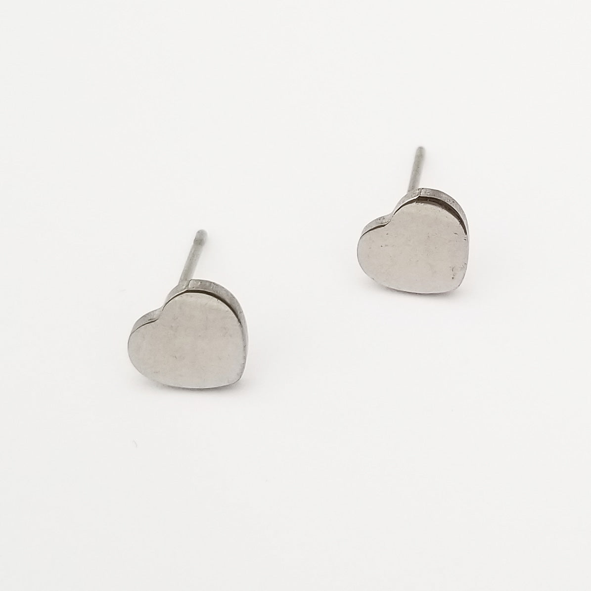 Petite Silver Heart Earrings