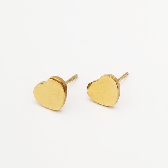Petite Gold Heart Earrings