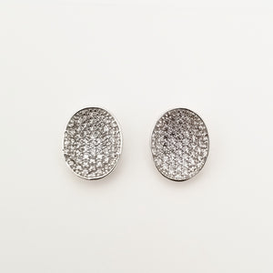 Oval Pave Earrings