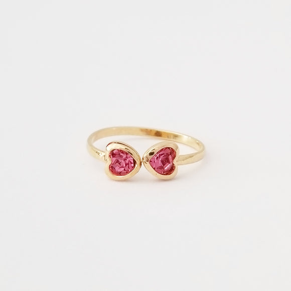Kids Pink Heart Ring