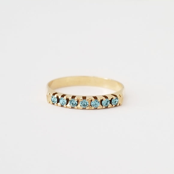 Aquamarine Stackable Ring