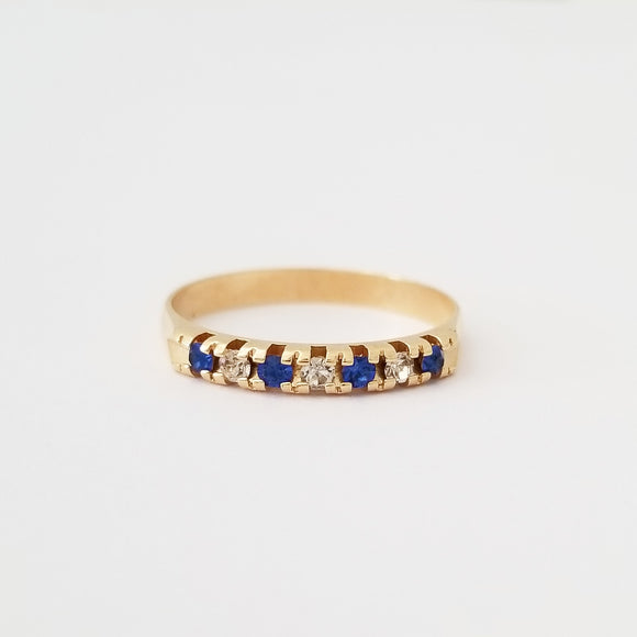 Blue + White Stackable Ring
