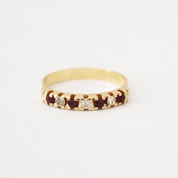 Ruby + White Stackable Ring