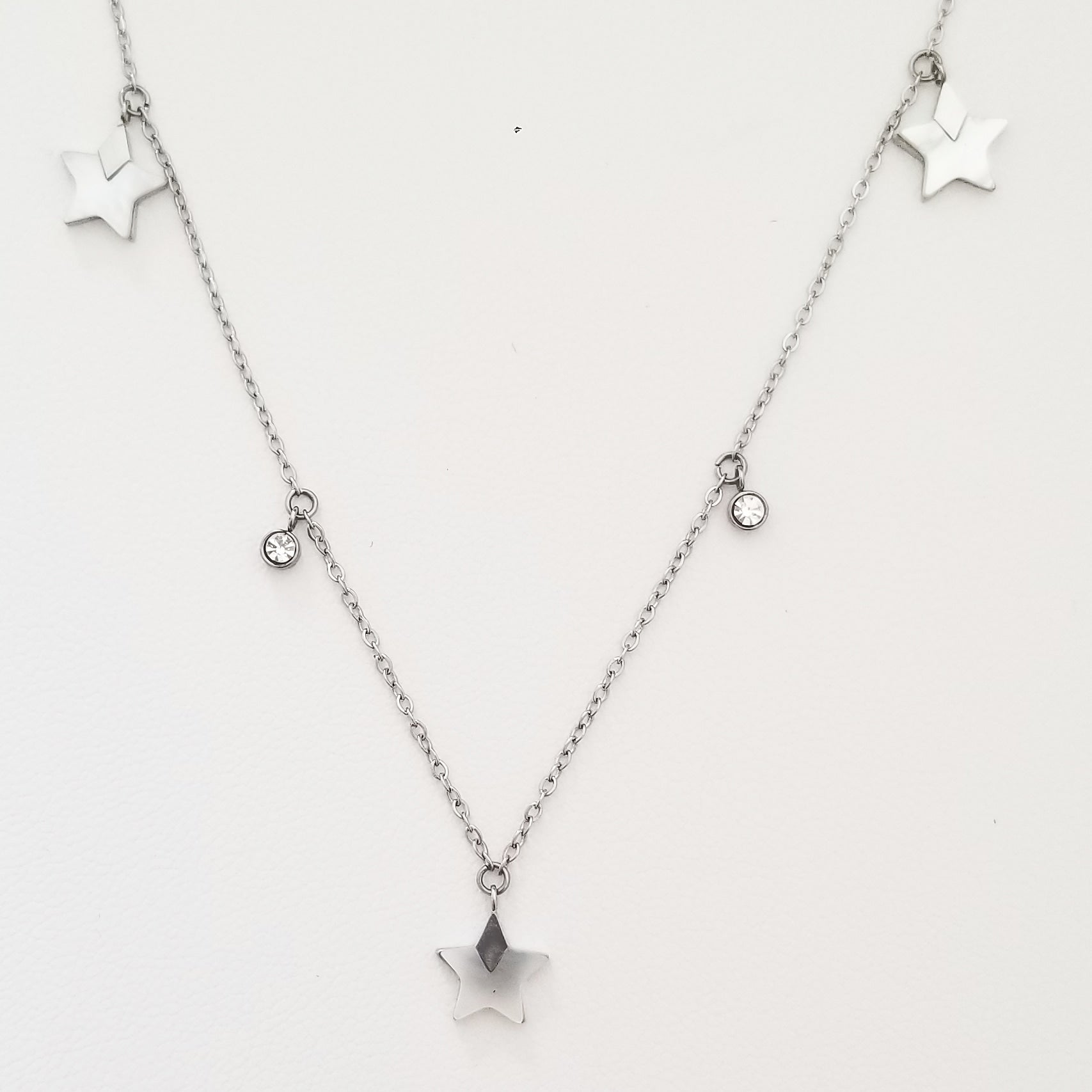 Pearl Star Silver Necklace