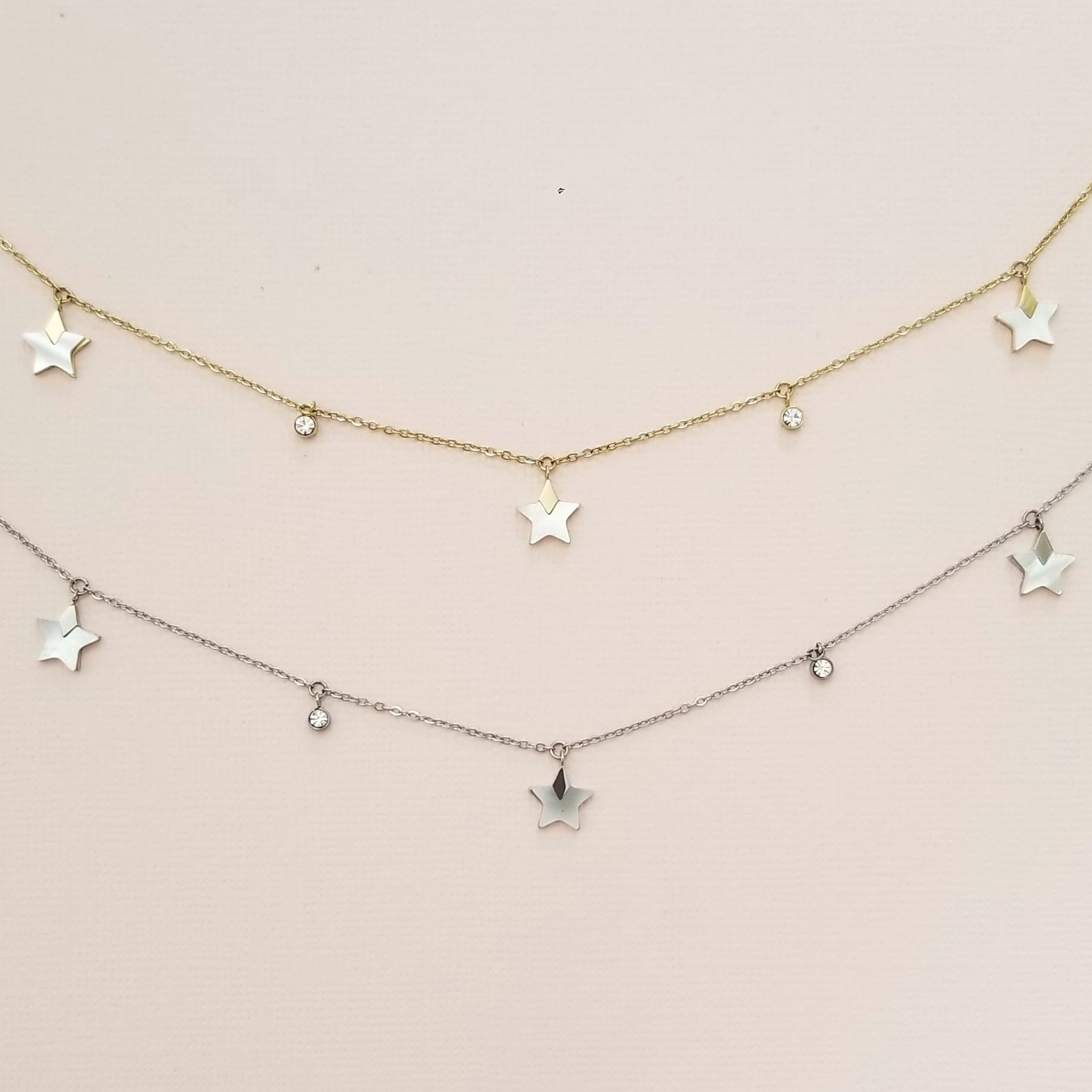 Pearl Star Gold Necklace