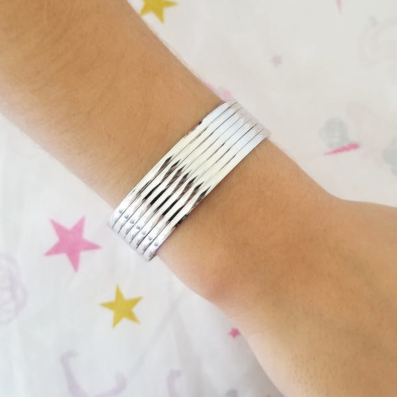 Kids Silver Bangle Set
