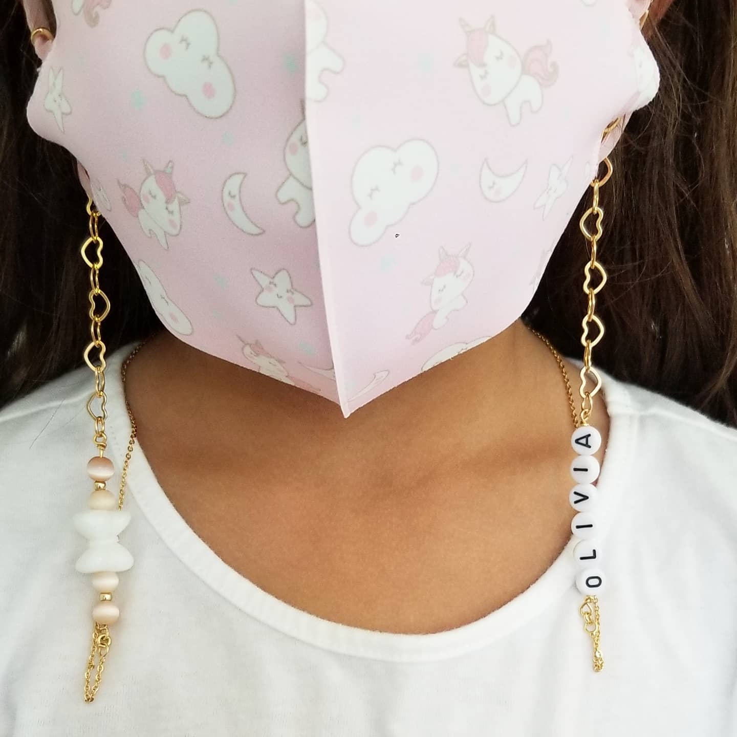Kids Personalized Bow Mask Chain