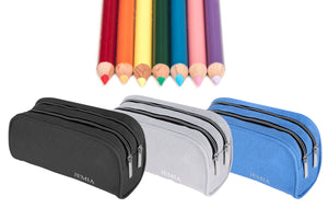 Three New Color Variation for Pencil Case with 2 Independent Compartments