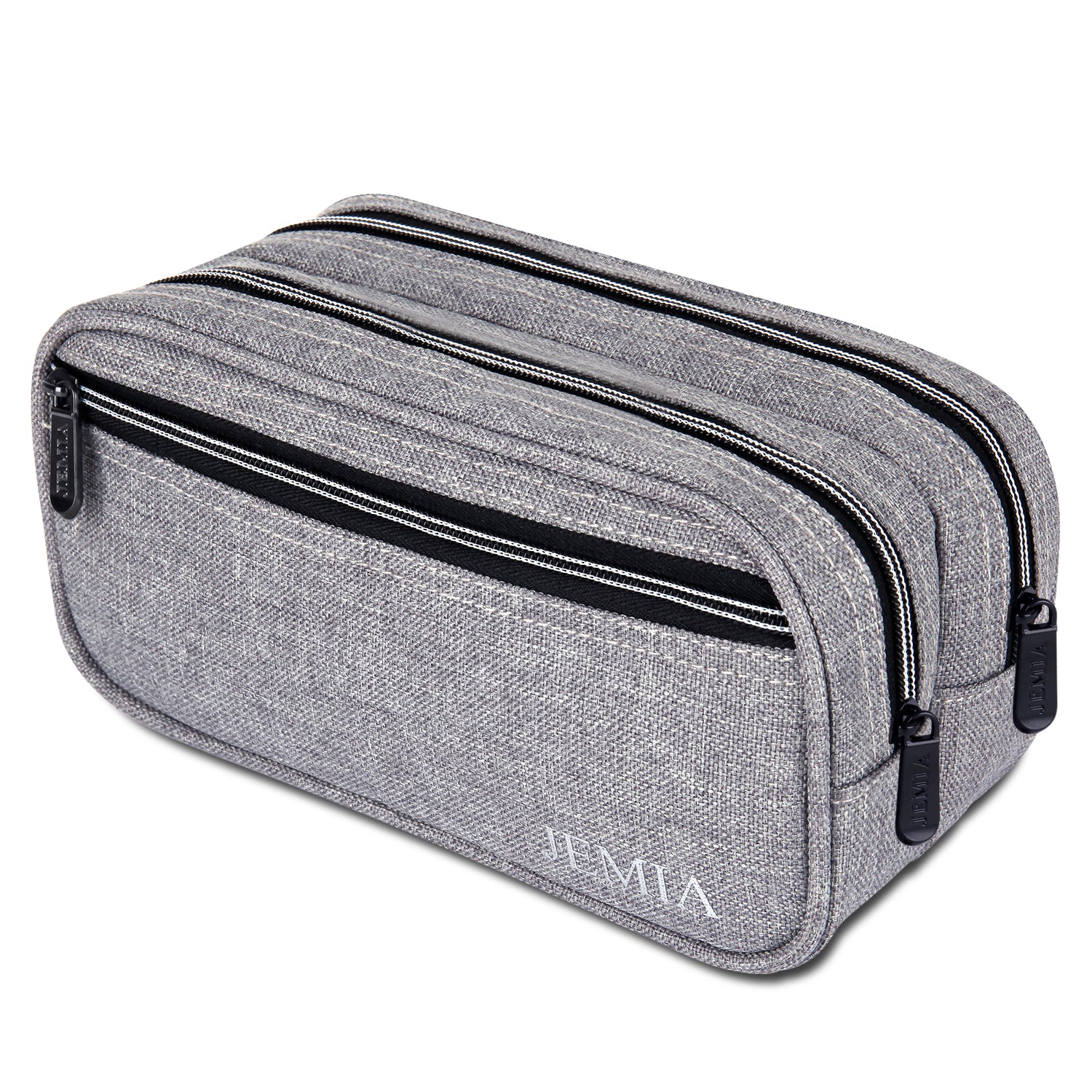 Multi Compartments Pencil Case (Plain, Polyester) - JEMIA