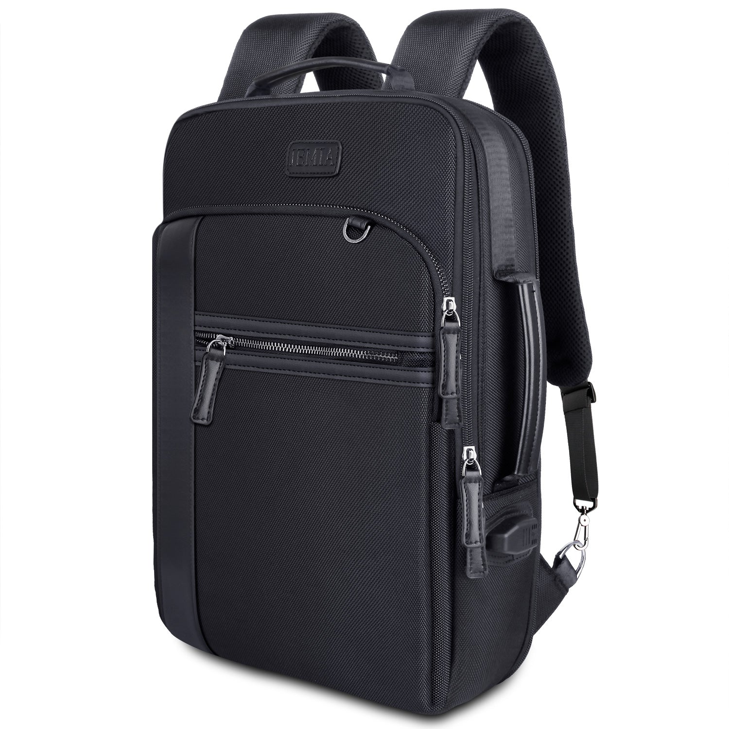 Slim Business Backpack for Lightweight Travel (Expandable, Polyester) - JEMIA
