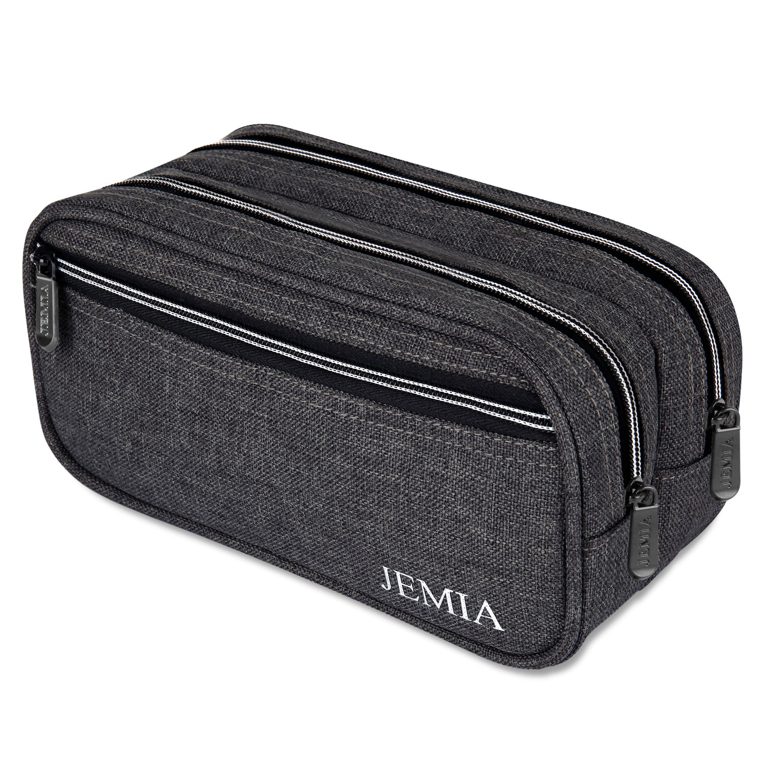 Multi Compartments Pencil Case (Plain, Polyester)