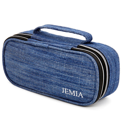 Pencil Case with 2 Compartments and Handle, Mesh Pockets and Slots Within The Compartments - JEMIA Industrial Co. Ltd