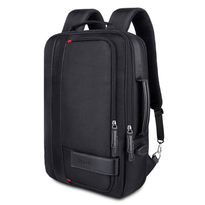 17- 23 Litters Black Expandable Backpack with USB Charging Port and Laptop Sleeve Holder - JEMIA Industrial Co. Ltd