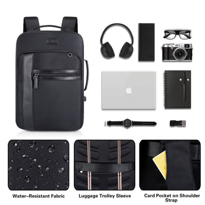 EXPANDABLE BACKPACK WITH USB CHARGING PORT AND LAPTOP COMPARTMENT - JEMIA Industrial Co. Ltd