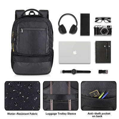 Backpack with 15.6 Inch Laptop and Small Tablet Compartments, Hidden Secret Zipper Pocket - JEMIA Industrial Co. Ltd