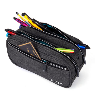 Multi Compartments Pencil Case (Plain, Polyester) - JEMIA Industrial Co. Ltd