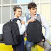Multi Compartments Backpack for Multipurpose Travel (Black, Polyester) - JEMIA