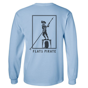 Blue 'Polling Pirate' T-shirt Long Sleeve