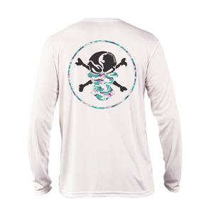Pastel Camouflage Buff Performance Shirt - Flats Pirate Fishing Apparel