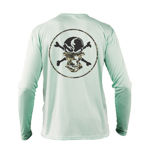 Camouflage Buff Performance Shirt - Flats Pirate Fishing Apparel