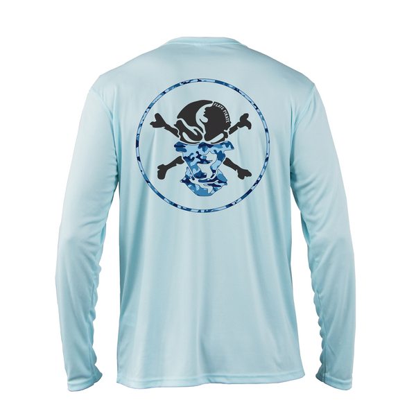 Water Camouflage Buff Performance Shirt - Flats Pirate Fishing Apparel