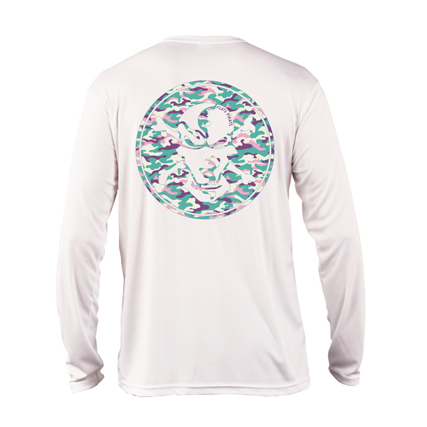 Pastel Camouflage Performance Shirt - Flats Pirate Fishing Apparel