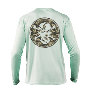 Traditional Camouflage Performance Shirt - Flats Pirate Fishing Apparel