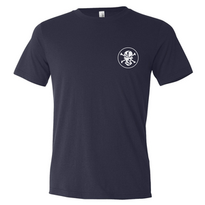 Navy 'Compass' T-shirt - Flats Pirate Fishing Apparel