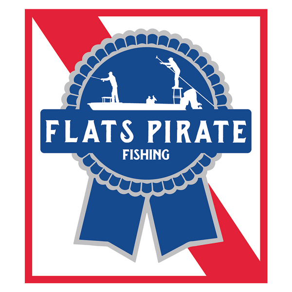 Flats Pirate Fishing PBR Skiff Sticker - Flats Pirate Fishing Apparel