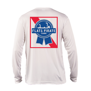 Flats Pirate Fishing Performance Shirt, White - Flats Pirate Fishing Apparel